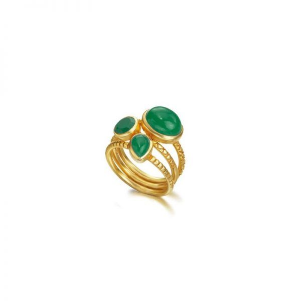Anillo LeCarré LA083ES Goa Emerald Ring